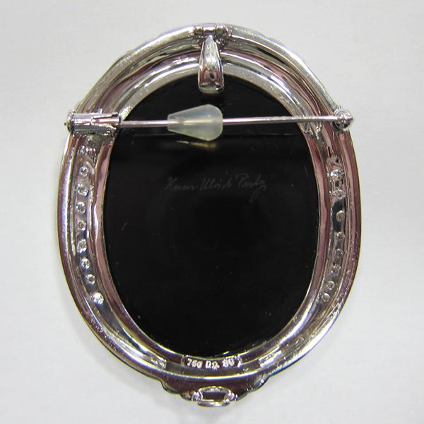 K18WGメノーカメオ ペンダント&ブローチ兼用  ECO Jewelry