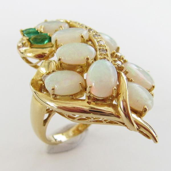K18YGオパールリング  ECO Jewelry