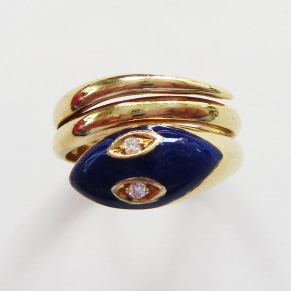 K18YGラピスリング  ECO Jewelry
