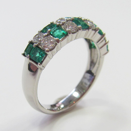 PTエメラルド/ダイヤモンドリング ECO Jewelry