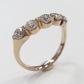 K18PGダイヤモンドリング ECO Jewelry
