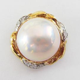 K18/PTブローチ  ECO Jewelry