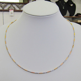 K18/3色ネックレス