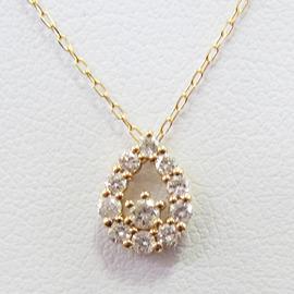 K18YGダイヤモンドペンダント