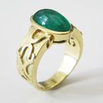 K18YGエメラルドリング ECO Jewelry