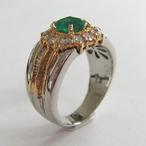 PT/K18エメラルドリング ECO Jewelry