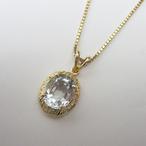 K18YGアクアマリンペンダント ECO Jewelry
