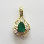 K18YGエメラルドトップ ECO Jewelry