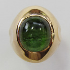 K18YGトルマリンリング  ECO Jewelry