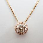 K18PGダイヤモンドペンダント