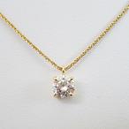 K18YGダイヤモンドペンダントネックレス