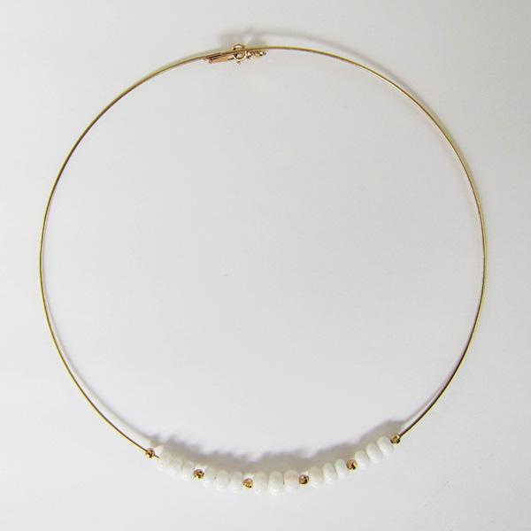 K18YG珊瑚ネックレス
