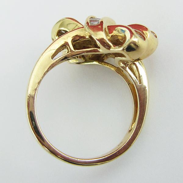 K18YGダイヤモンドリング